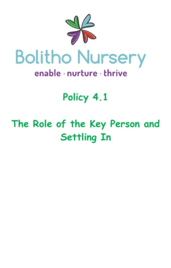 thumbnail of 4.1 The Role of the Key Person and Settling In