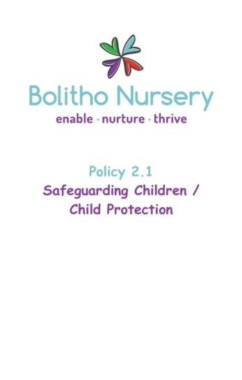 thumbnail of 2.1 Safeguarding Children:Child Protection Policy